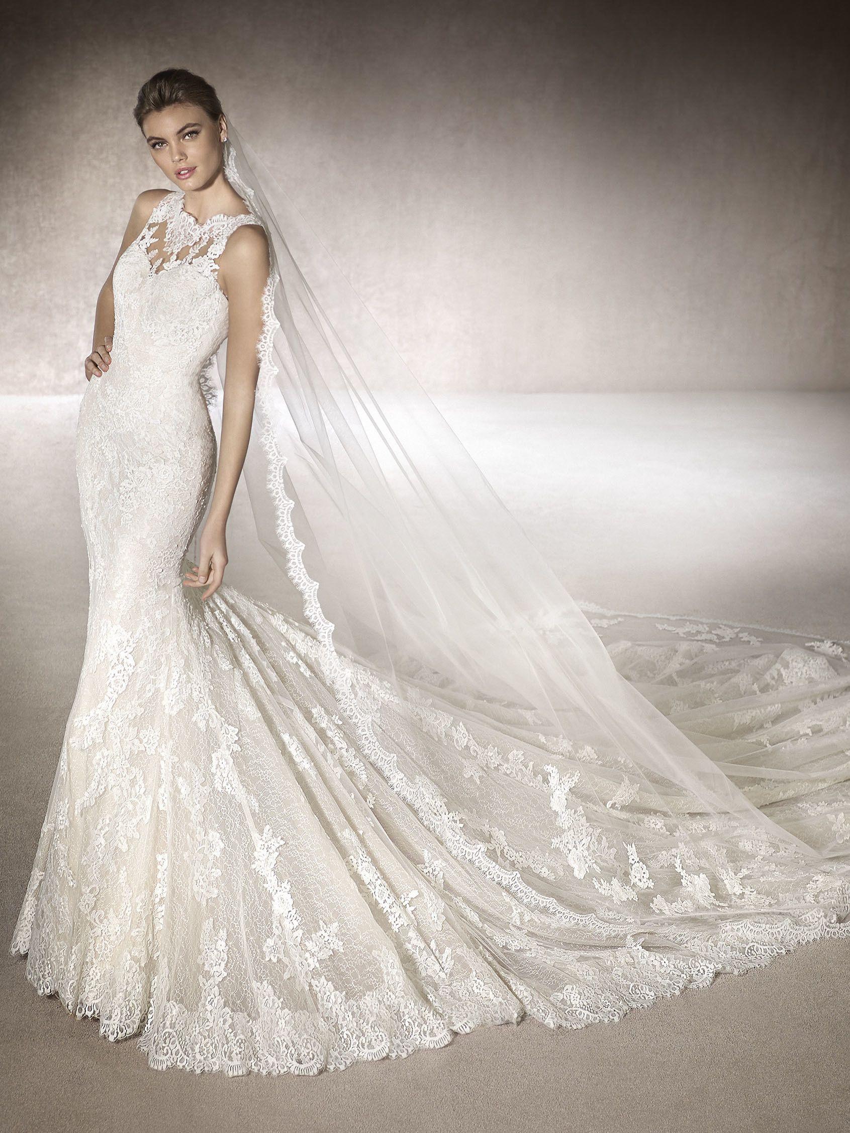 MIRIAM Brautkleid mit Carré-Ausschnitt | Brautkleid | Pinterest ...