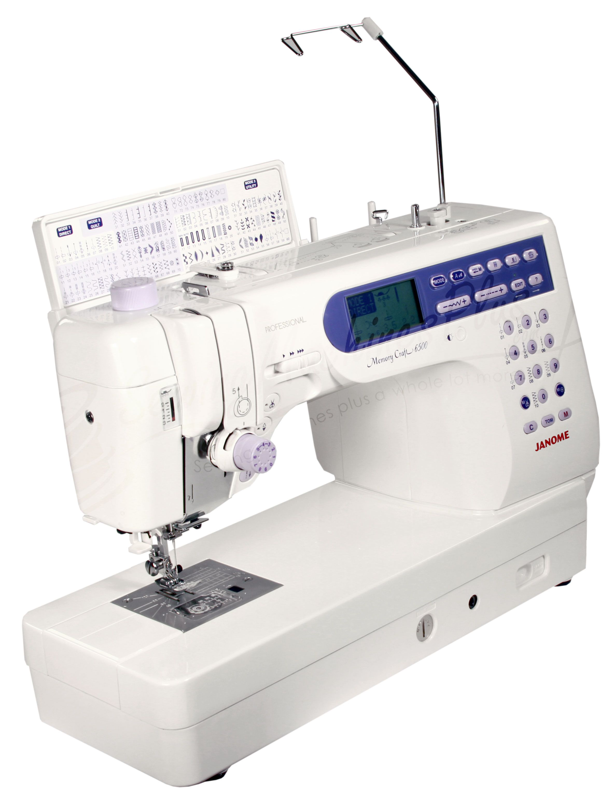 Janome Memory Craft 6500P Sewing Machine with videos and Janome MC6500P  Manual…