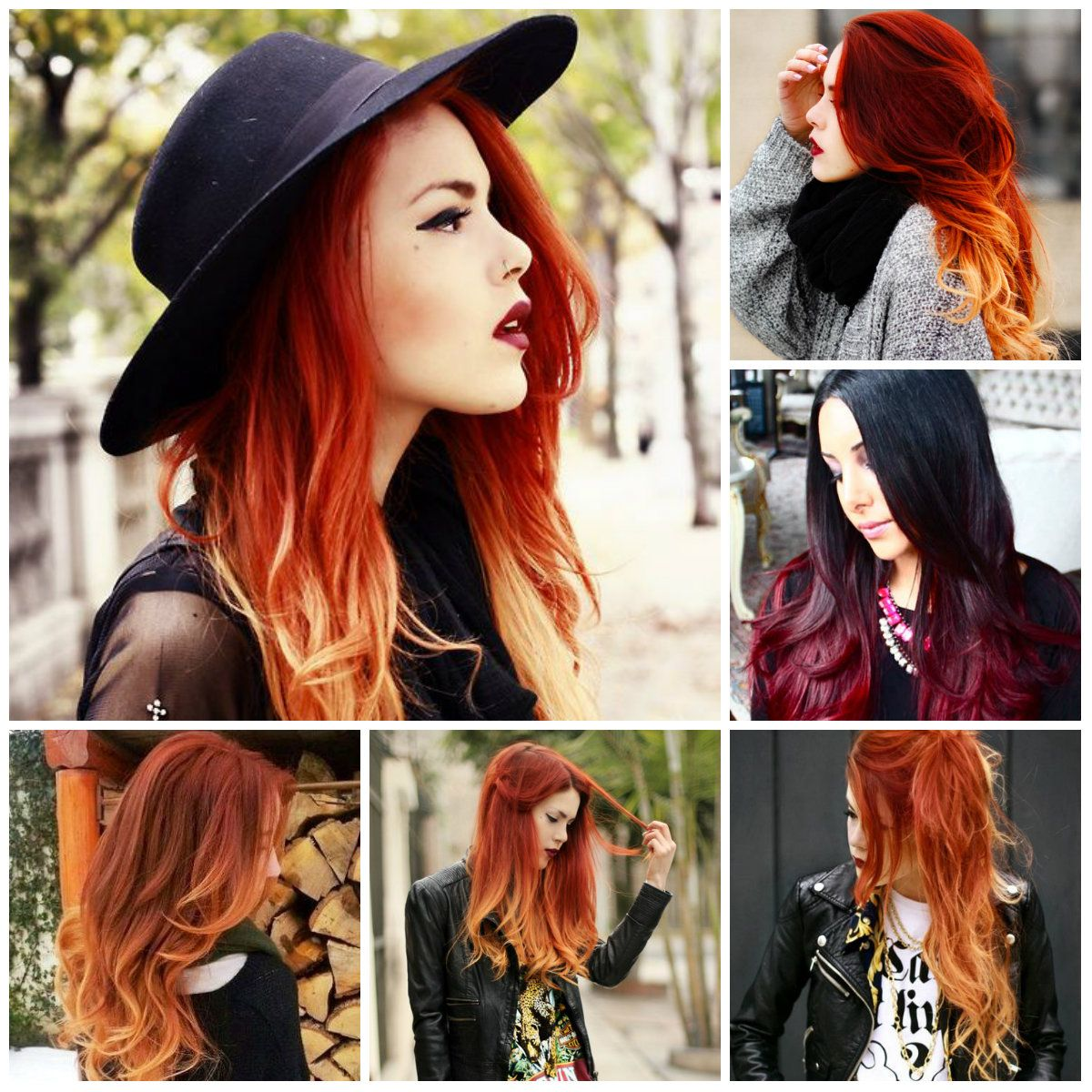 Red ombre hair colors   Hair  Pinterest  Unique hair Hair
