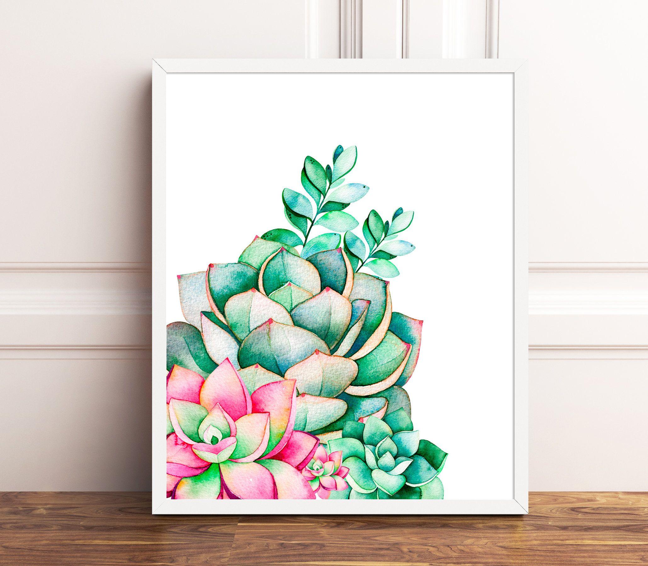 Cactus print cactus decor set of 30 prints nursery wall