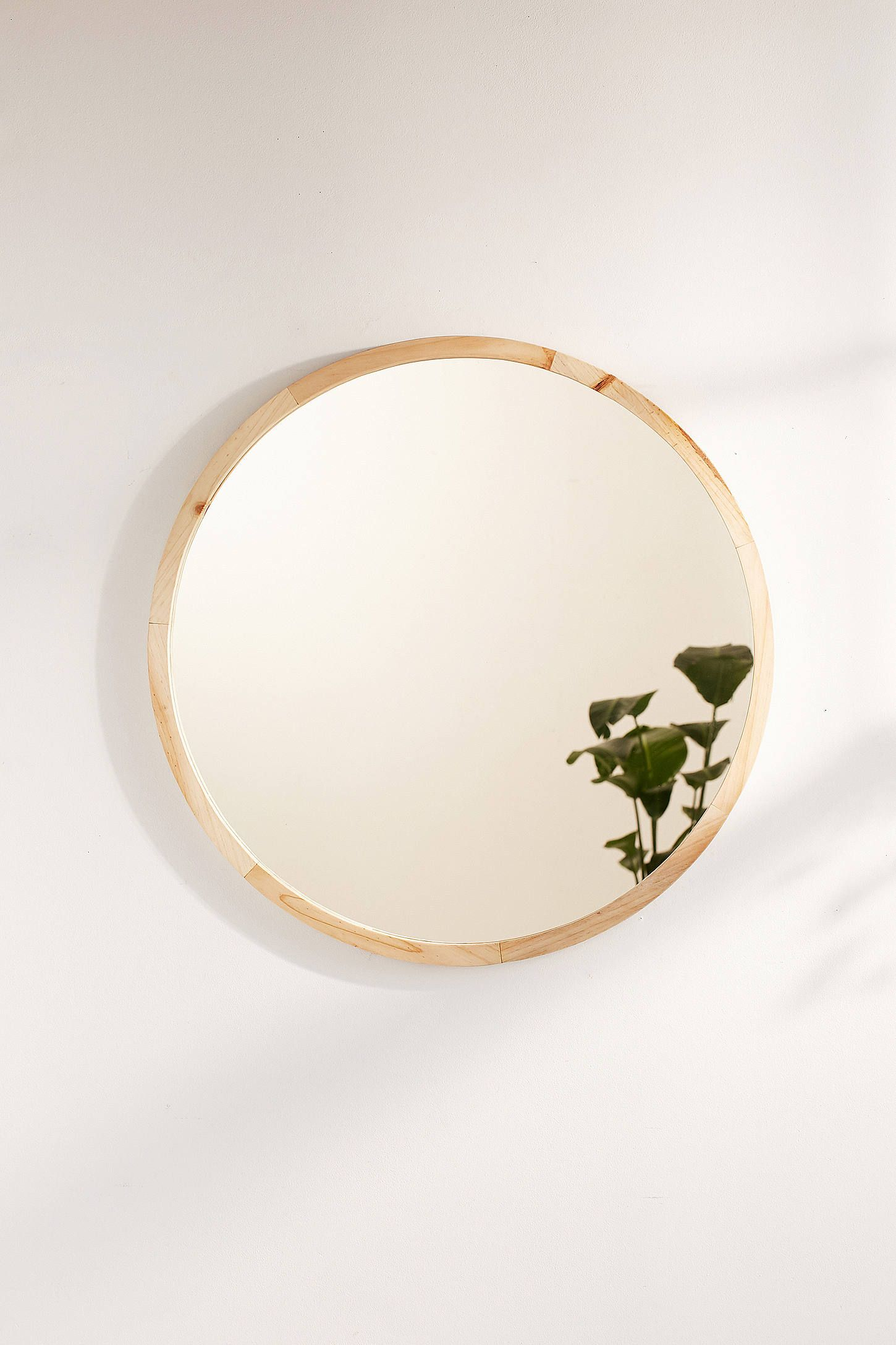 Slide View: 2: Anni Oversized Wooden Circle Mirror | Home ...