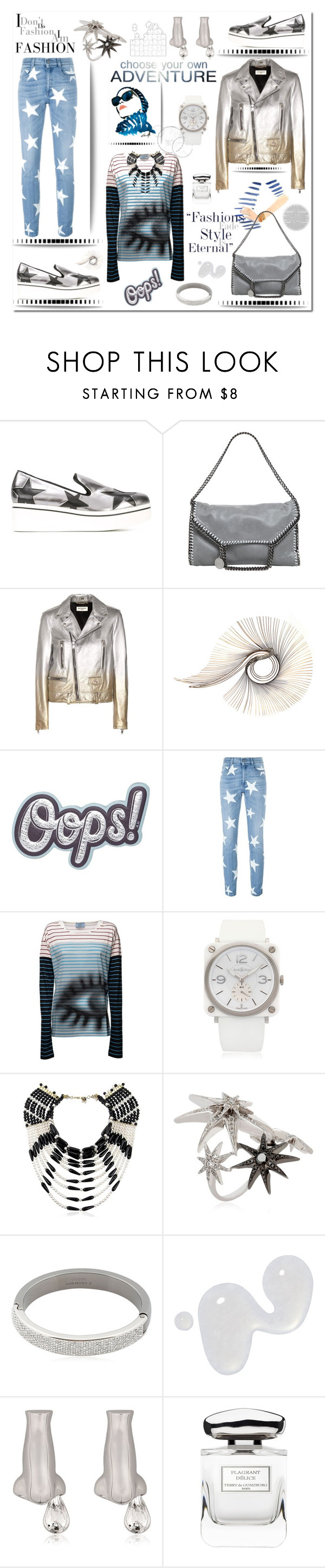 """""""OOPS!"""" by zabead ❤ liked on Polyvore featuring STELLA McCARTNEY, Yves Saint Laurent, C. Jeré, Anya Hindmarch, Prada, Bell & Ross, Rosantica, Colette Jewelry, Vita Fede and Illamasqua"""
