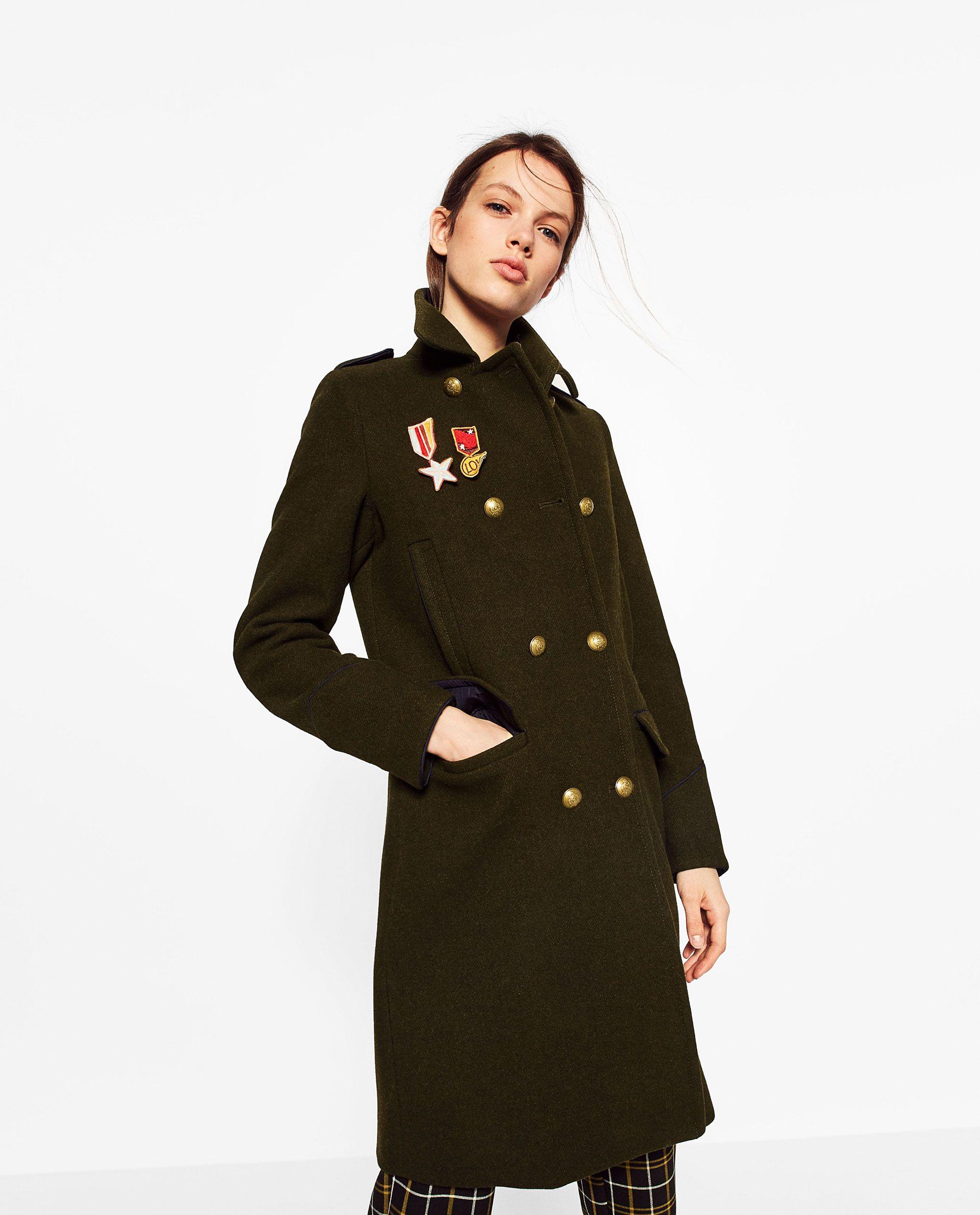 Zara Trf Militer Kaban Military Fashion Military Style Coats Fashion [ 2379 x 1920 Pixel ]