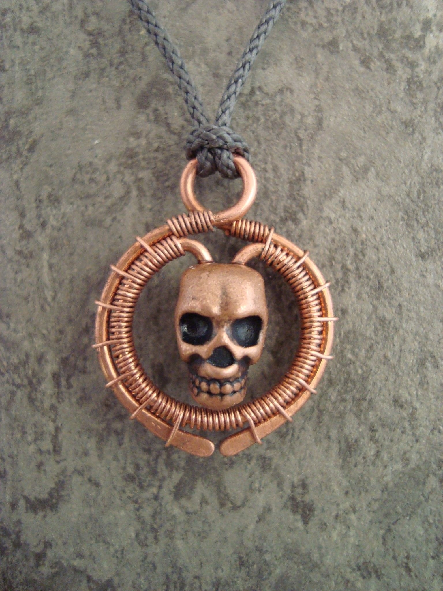 Wire Wrapped Skull Pendant Center Testandmeasurement Transistoranddiodetester Mosfetcircuitups Wrap My Fourth Try At Wrapping The First Rh Pinterest Ca Rings Bracelets