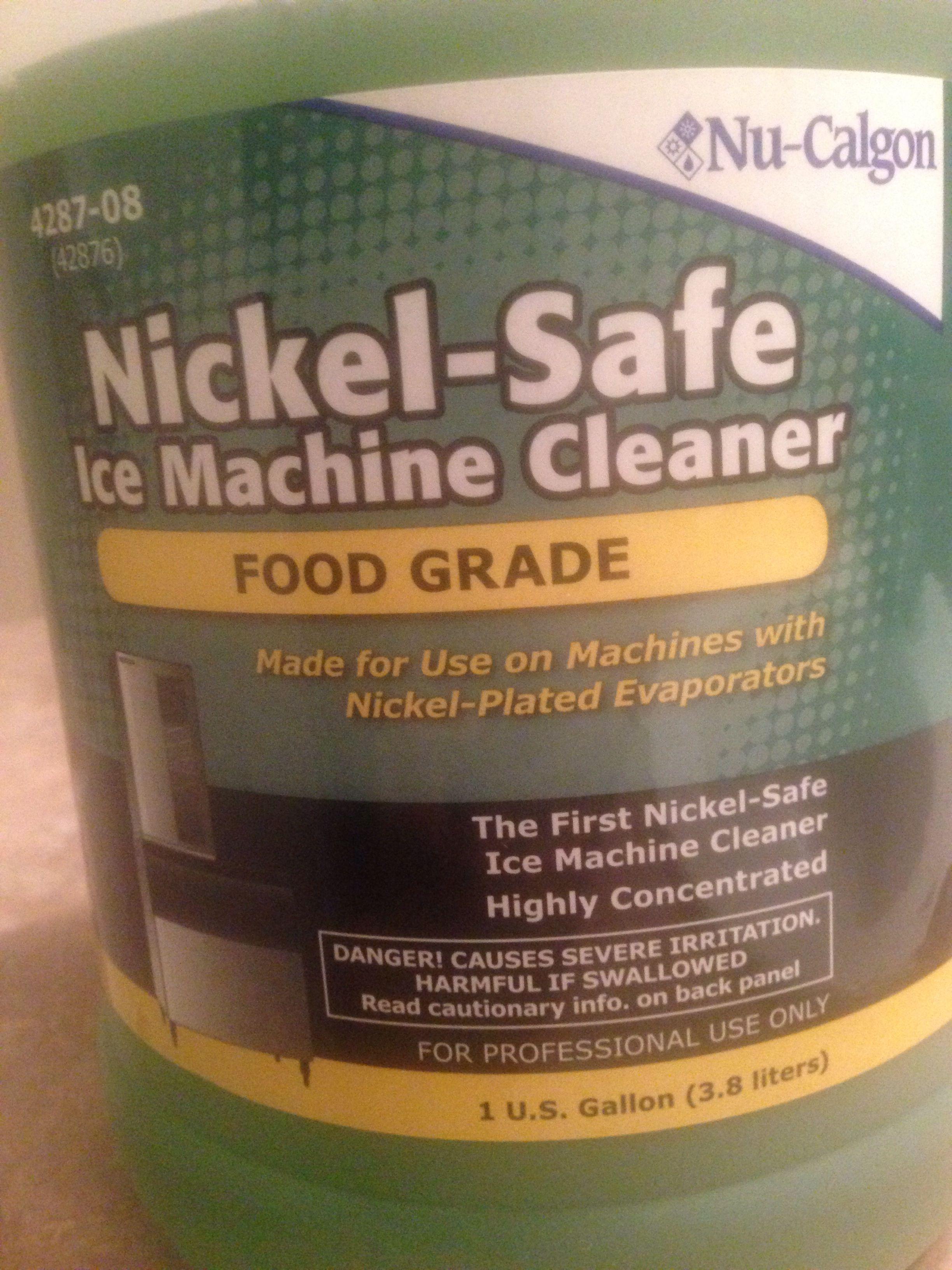 Nu-calgon nickel safe ice machine cleaner.. No scrub hard water ...