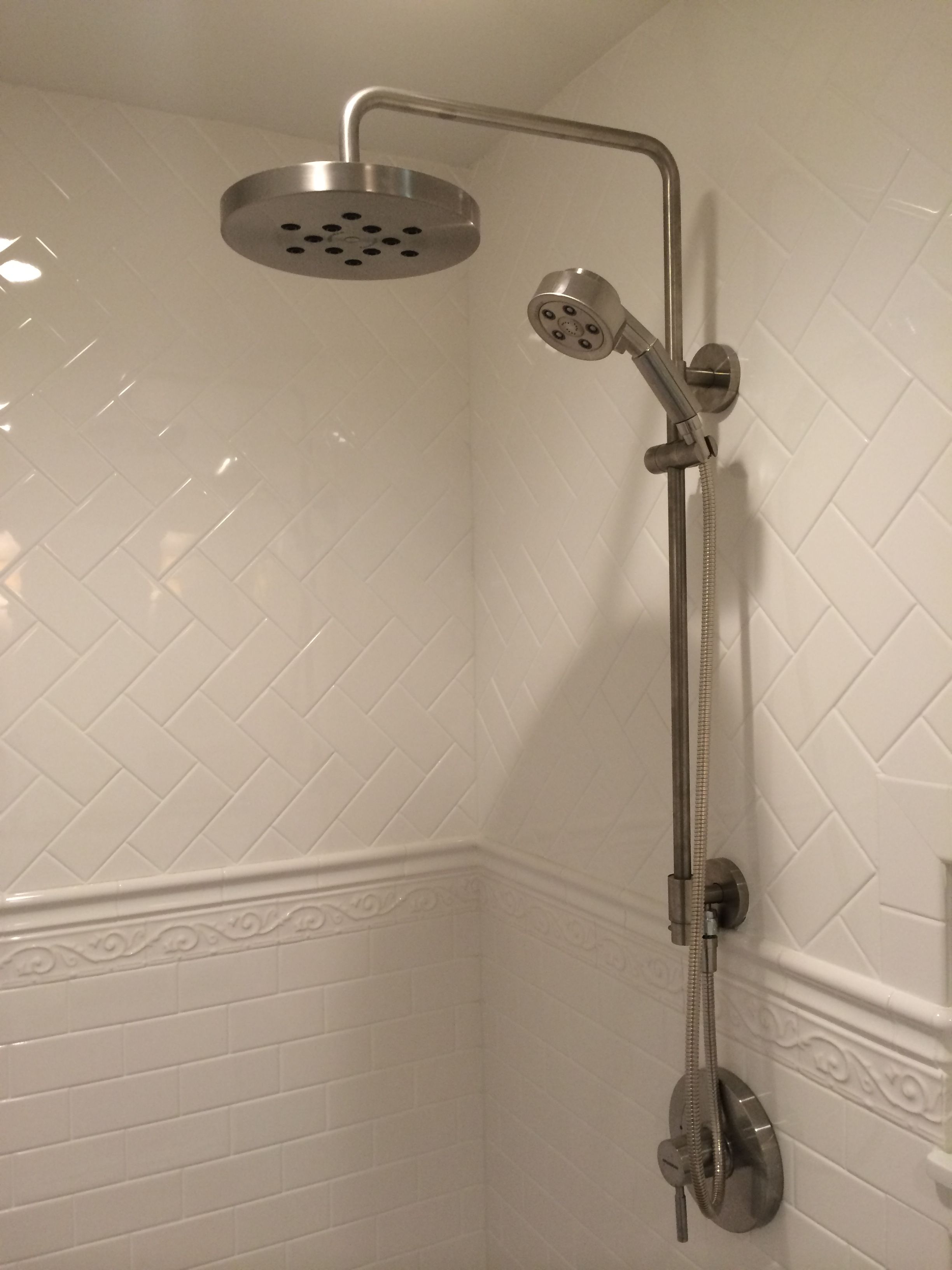 Speakman Shower Head and Hand Shower on Adjustable Slide Bar ...