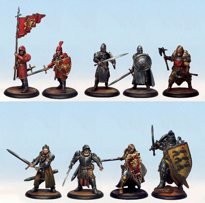 An Example Of The Starter Set Miniatures Painted Note That Minis