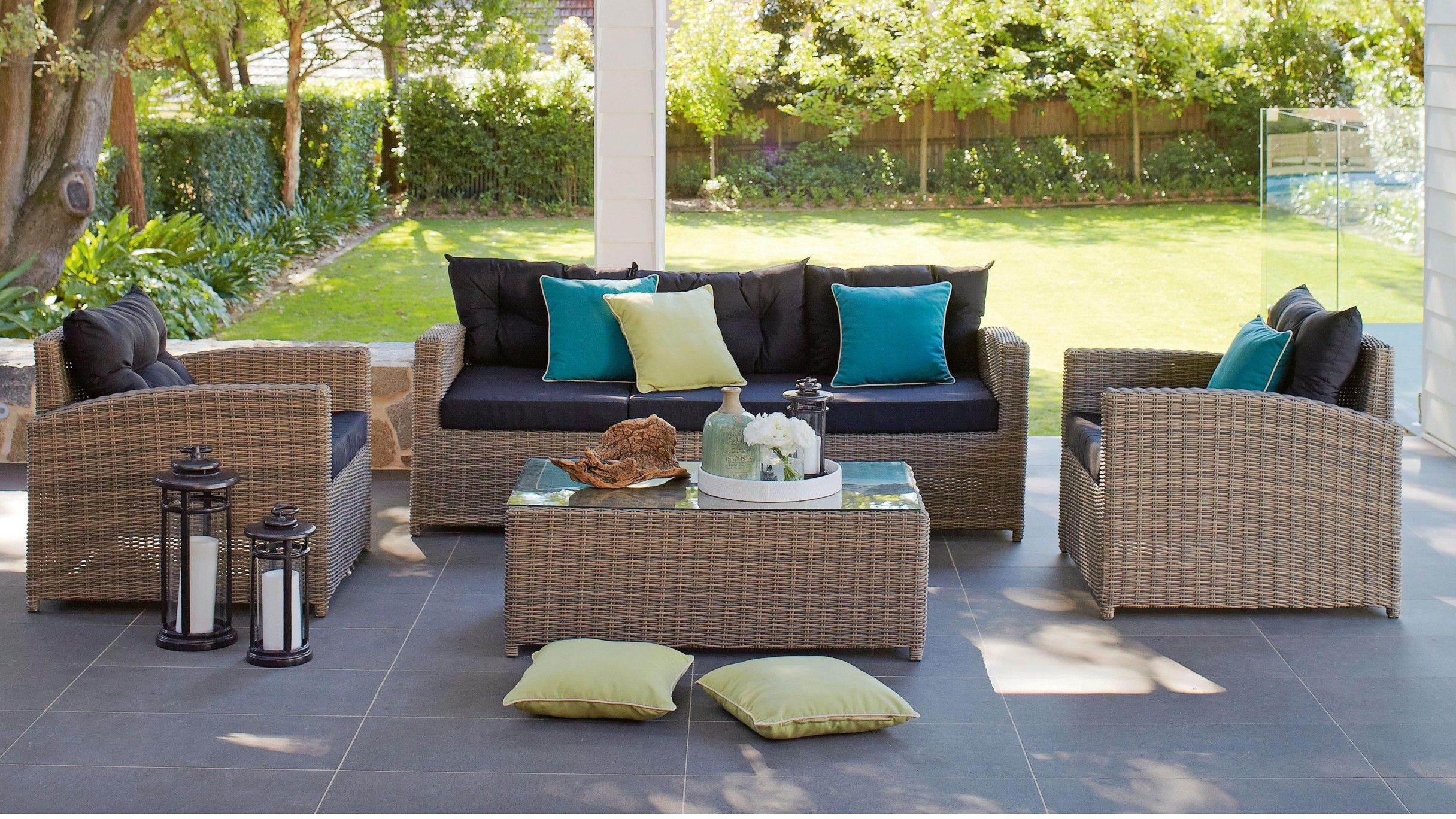Outdoor Lounges Bunnings Harvey Norman Caruso 4 Piece Suite Alfresco