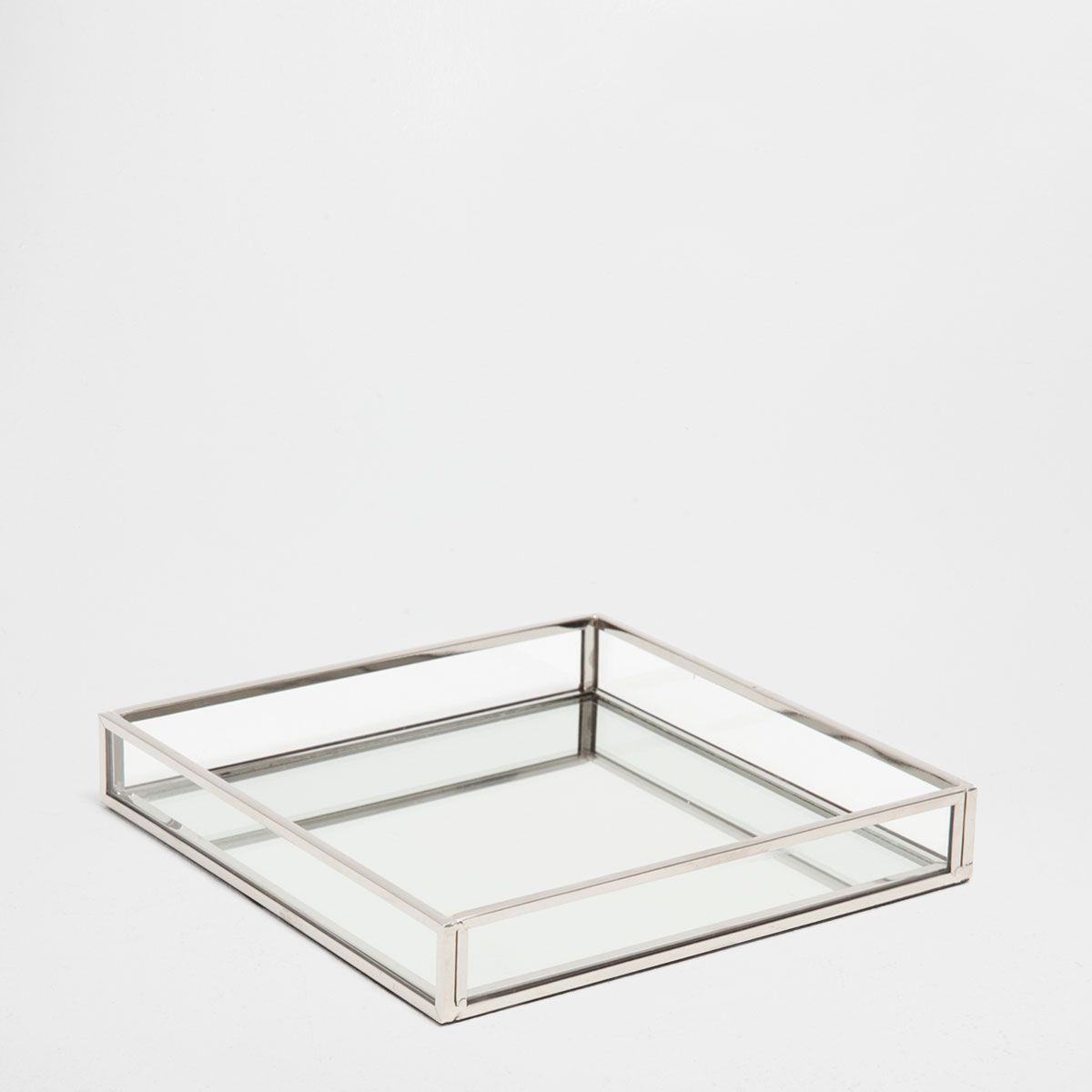 Image 1 Of The Product Silver Metal Mirror Decorative Tray Zara