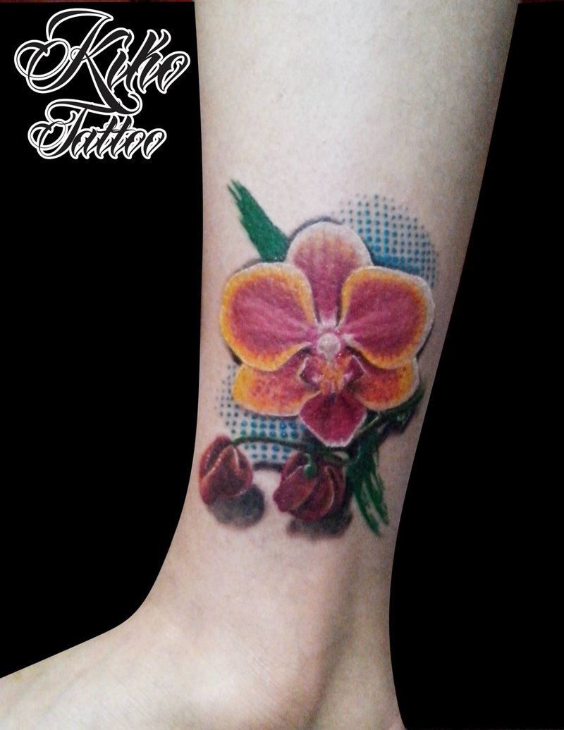 Realistc orchid tattoo by edilsonr on deviantart realistic