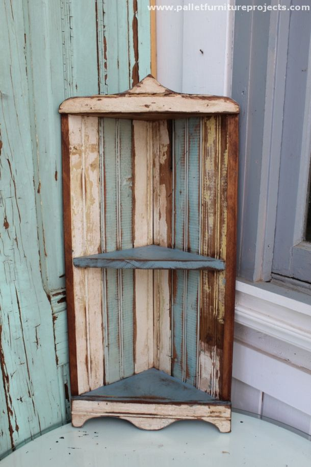 Pallet Corner Shelf Ideas Rustic Corner Shelf Pallet Projects Furniture Furniture Projects