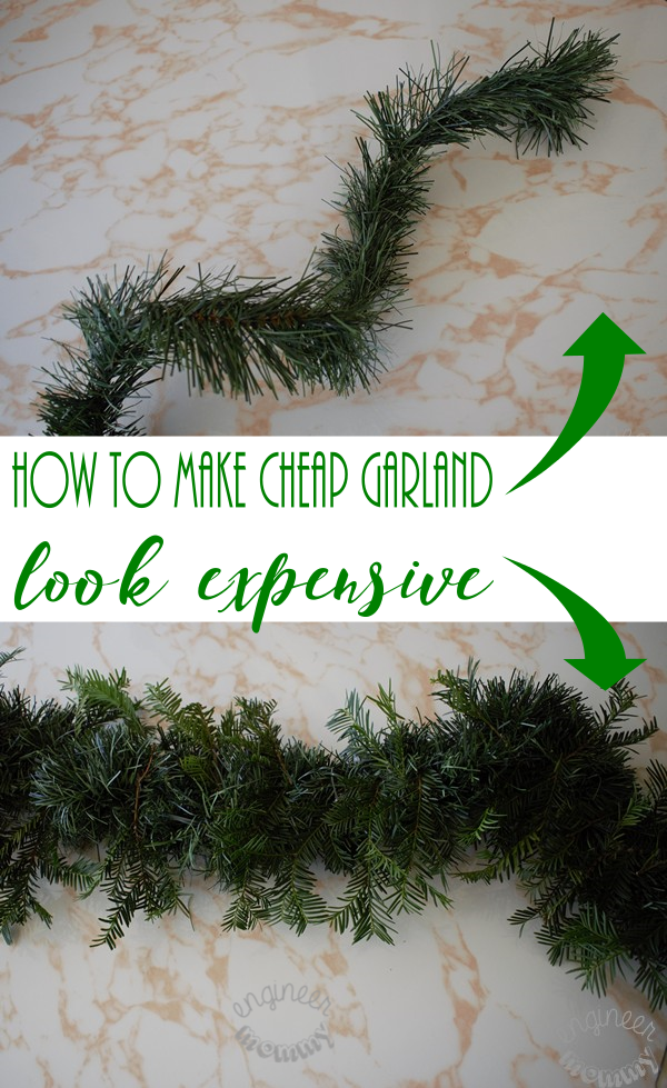 How To Make Cheap Garland Look Expensive | Diy christmas garland, Cheap christmas trees, Slim ...