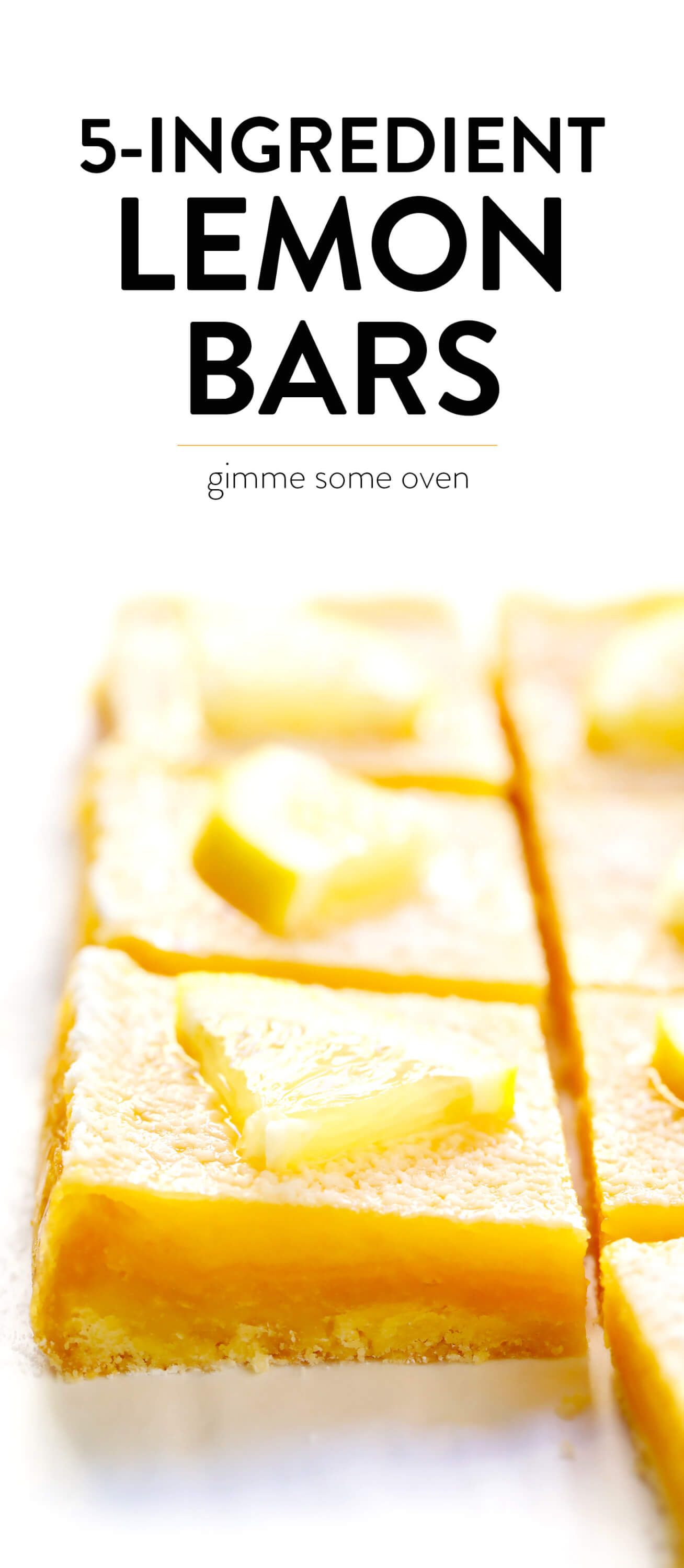 Learn how to make the best lemon bars with this 5-ingredient easy lemon bars recipe! It's a simple