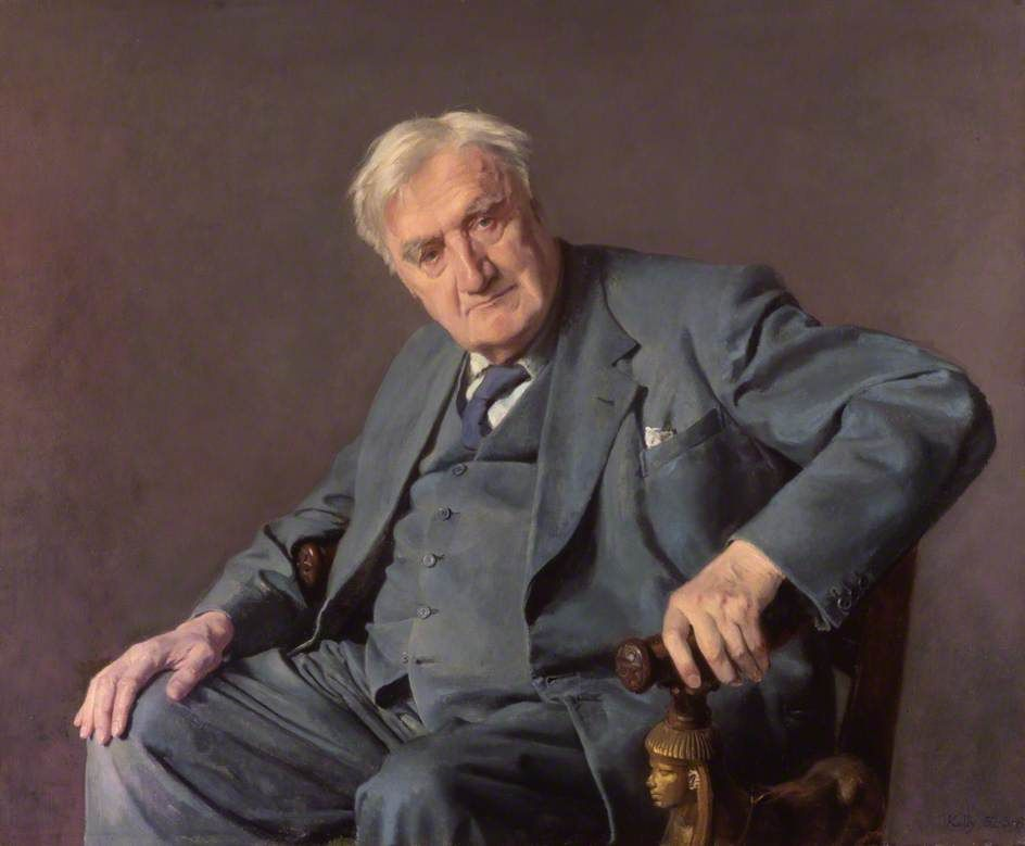 Ralph Vaughan Williams (1872–1958)  by Gerald Festus Kelly  Royal College of Music        Date painted: 1952–1953      Oil on canvas, 91.5 x 115 cm      Collection: Royal College of Music