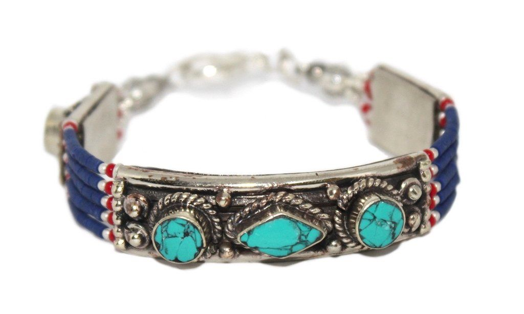 Lapis Turquoise Bracelet Boho Bracelet Gypsy Bracelet