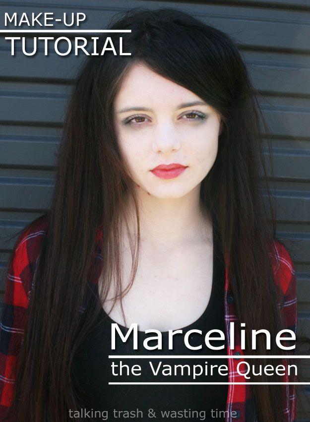 Talking Trash u0026 Wasting Time Marceline Make-up Tutorial  sc 1 st  Pinterest & Marceline Make-up Tutorial | Pinterest | Marceline Vampire makeup ...