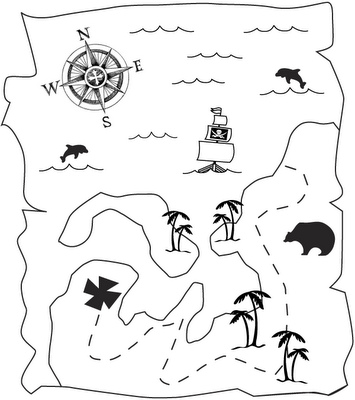 treasure chest pictures to print and color | pirate coloring book ...