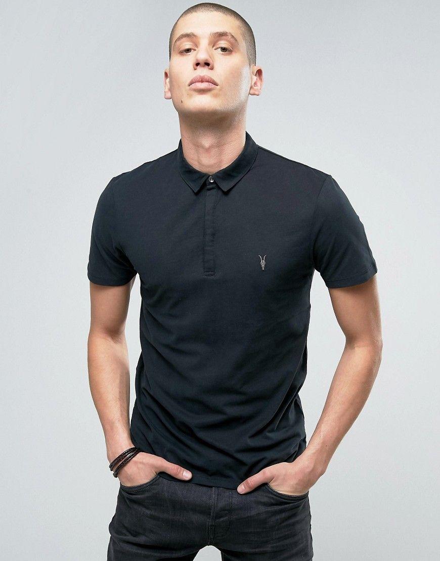 ALLSAINTS POLO SHIRT WITH BRANDING - BLACK. #allsaints #cloth ...