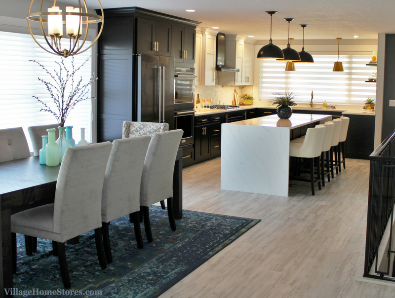 Quad Cities Black White and Gold Kitchen Remodel -Village ...