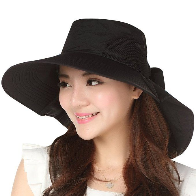 Jemis Women S Big Brim Summer Hat With Neck Cover Beige At Amazon Women S Shade Hats Summer Hats Sun Hats For Women