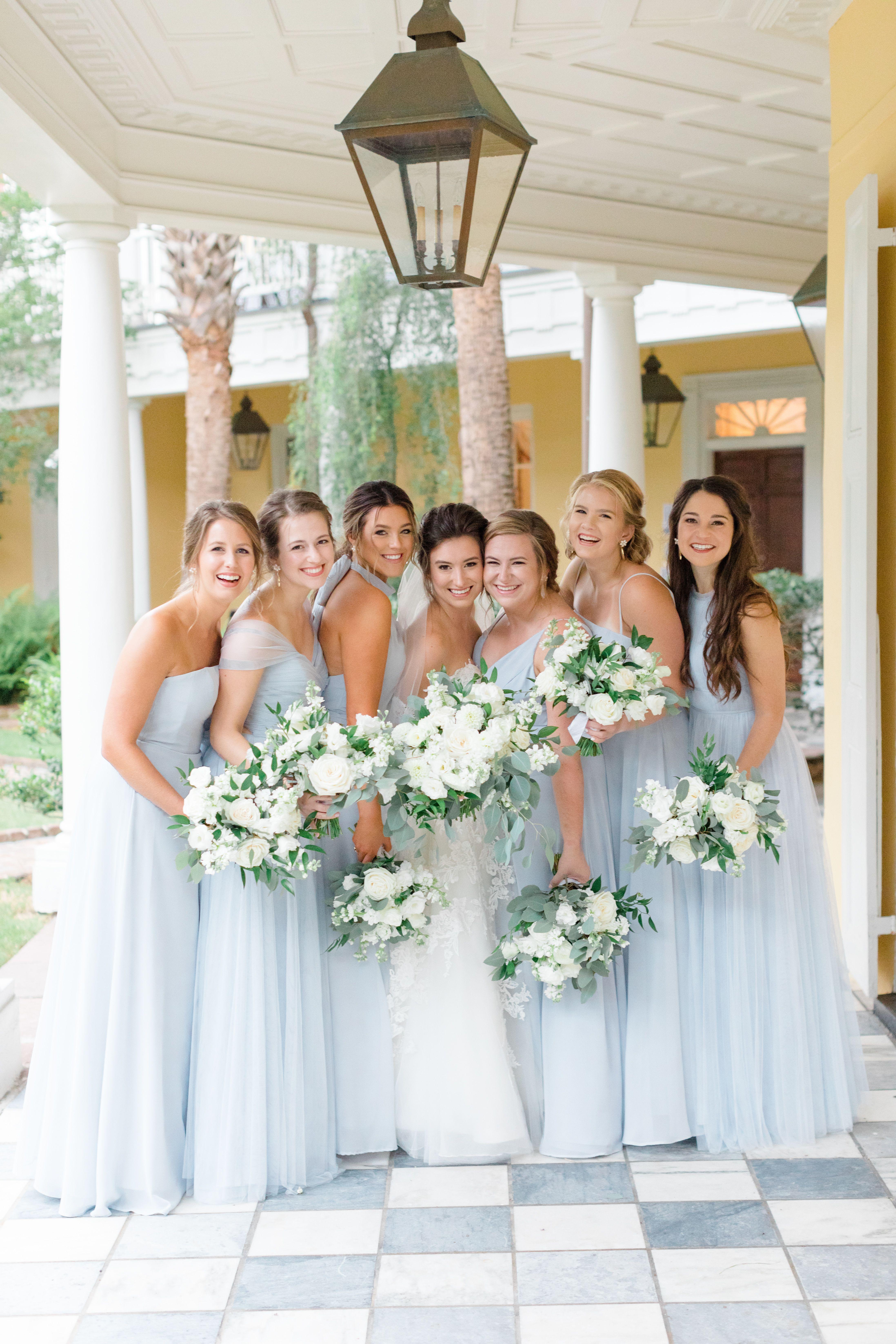 William Aiken House Wedding Light Blue Bridesmaids Dresses in 20 ...