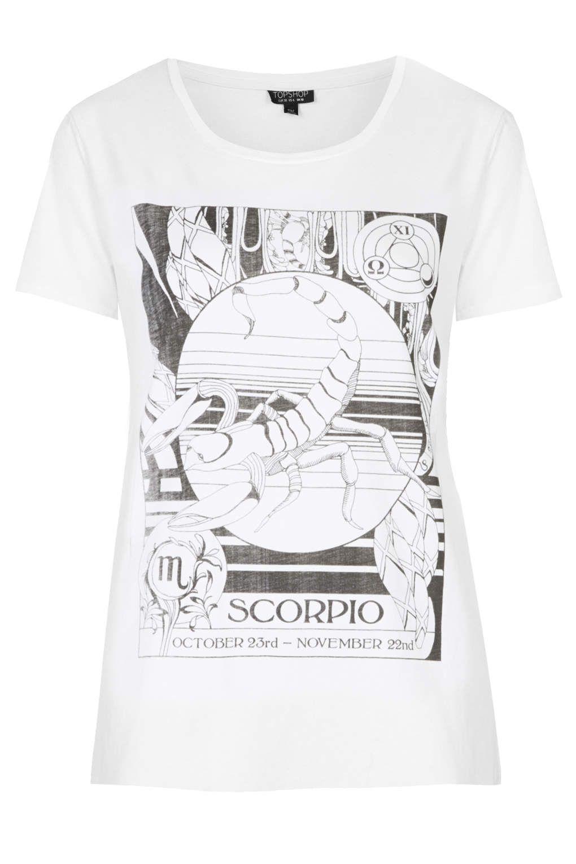 58490554e47 Scorpio Zodiac t-shirt from Topshop