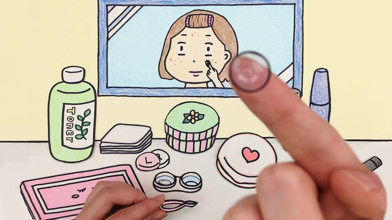 화장하기 스톱모션 거울버전!! (Makeup stop motion / Mirror Ver.) 셀프