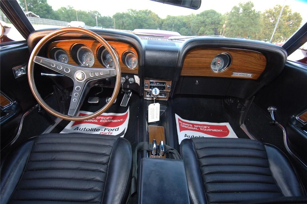 1969 Ford Mustang Boss 429 Fastback Interior Dashboard Mustang
