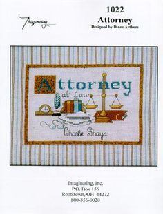 Attorney - Cross Stitch Pattern  by Imaginating
