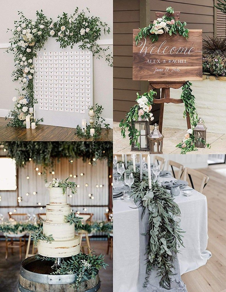 Artificial Willow Leaf Garland, Greenery Garland for