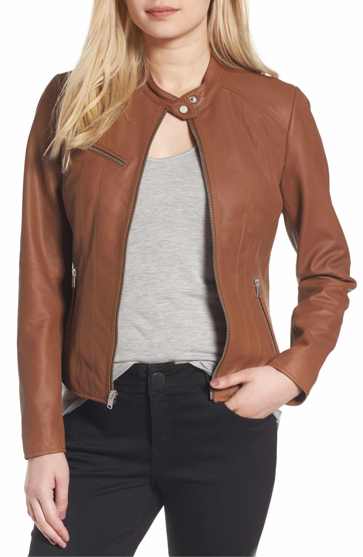 Andrew Marc Felicity Leather Moto Jacket Leather jacket