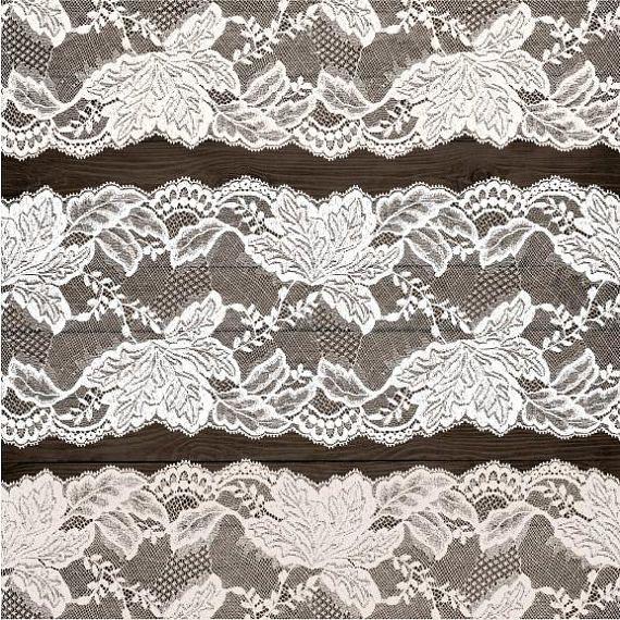 Wedding Lace Clipart Rustic Border Clip Art Shabby Chic Frame Bridal Shower Cream White Black Seamless