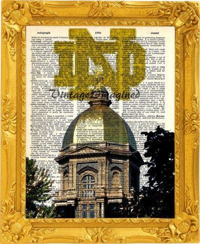 Hey, I found this really awesome Etsy listing at https://www.etsy.com/listing/206610033/notre-dame-fighting-irish-golden-dome