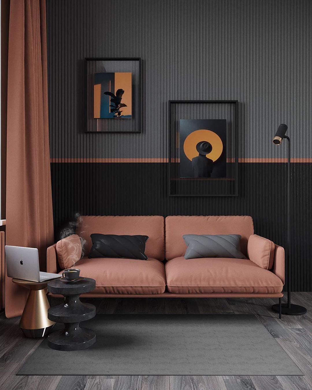 Design Magazine On Instagram Calming Livingroom With Mega Amazing Wall A Contemporary Decor Living Room Modern Home Interior Design Furniture Design Modern
