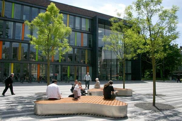 Public Square Gets Modern Design Landscape Architecture Urban Landscape Design Architecture Courtyard