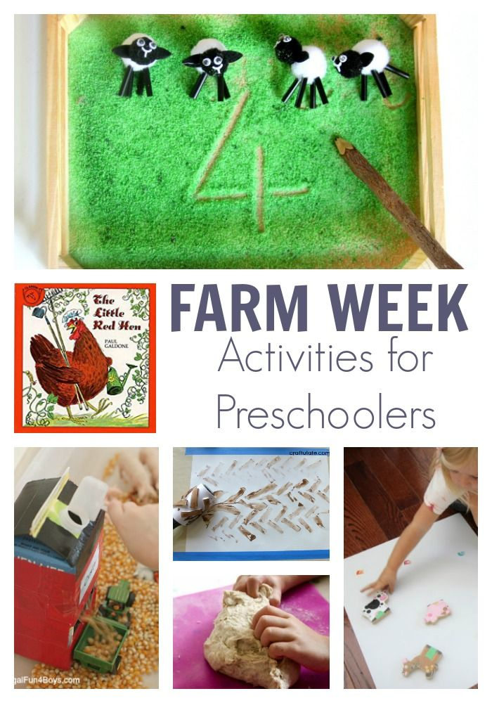 The Little Red Hen and Farm Activity Plan for Preschoolers ...
