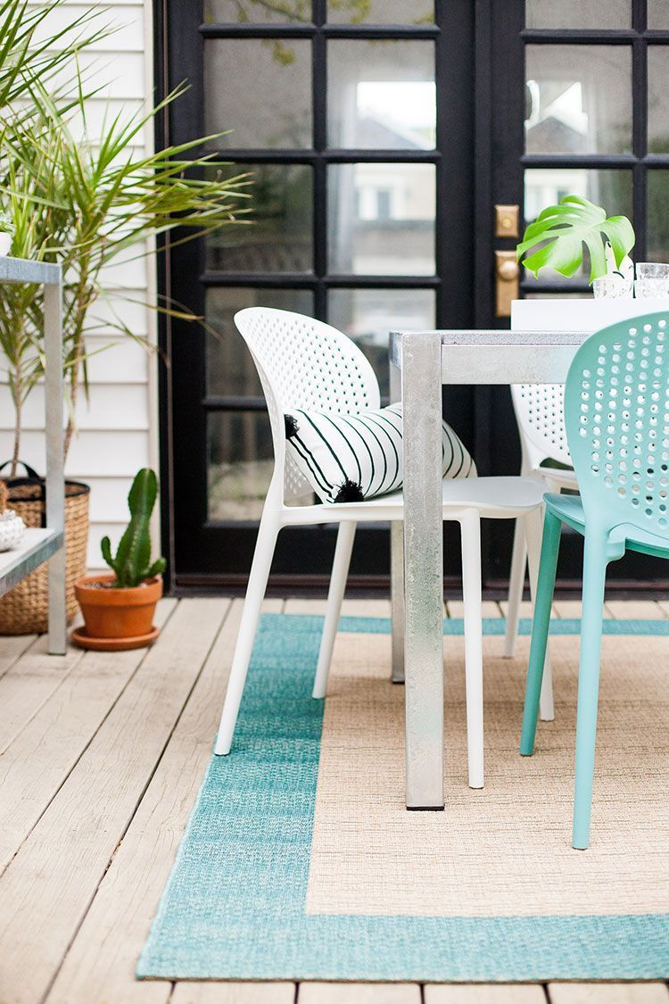 Dot White Dining Chair Plastic patio furniture, Costco