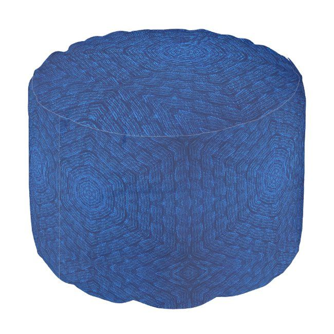 Navy blue textured pouf #bed #bedroom #sleep #blue #navy #pouf