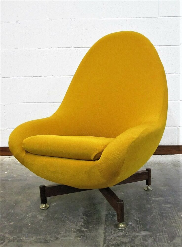 Greaves and thomas swivel egg chair mid century vintage