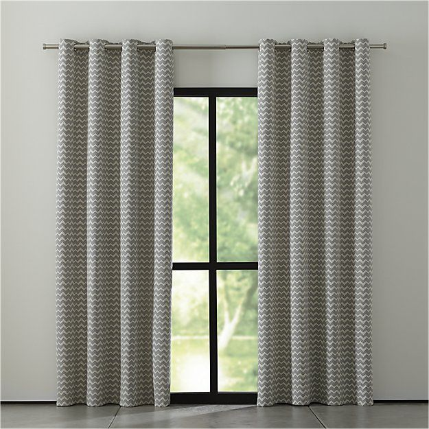 Reilly Grey Chevron Curtains Crate And Barrel Grey Chevron