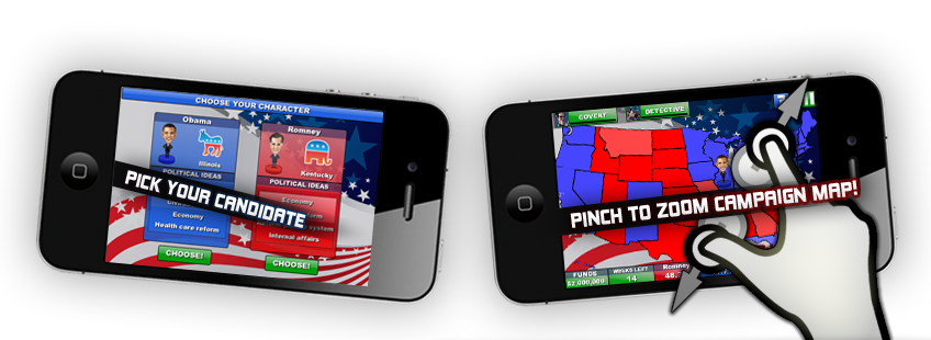 Race for the White House 2012 Game for Android and iPhone #Election2012
