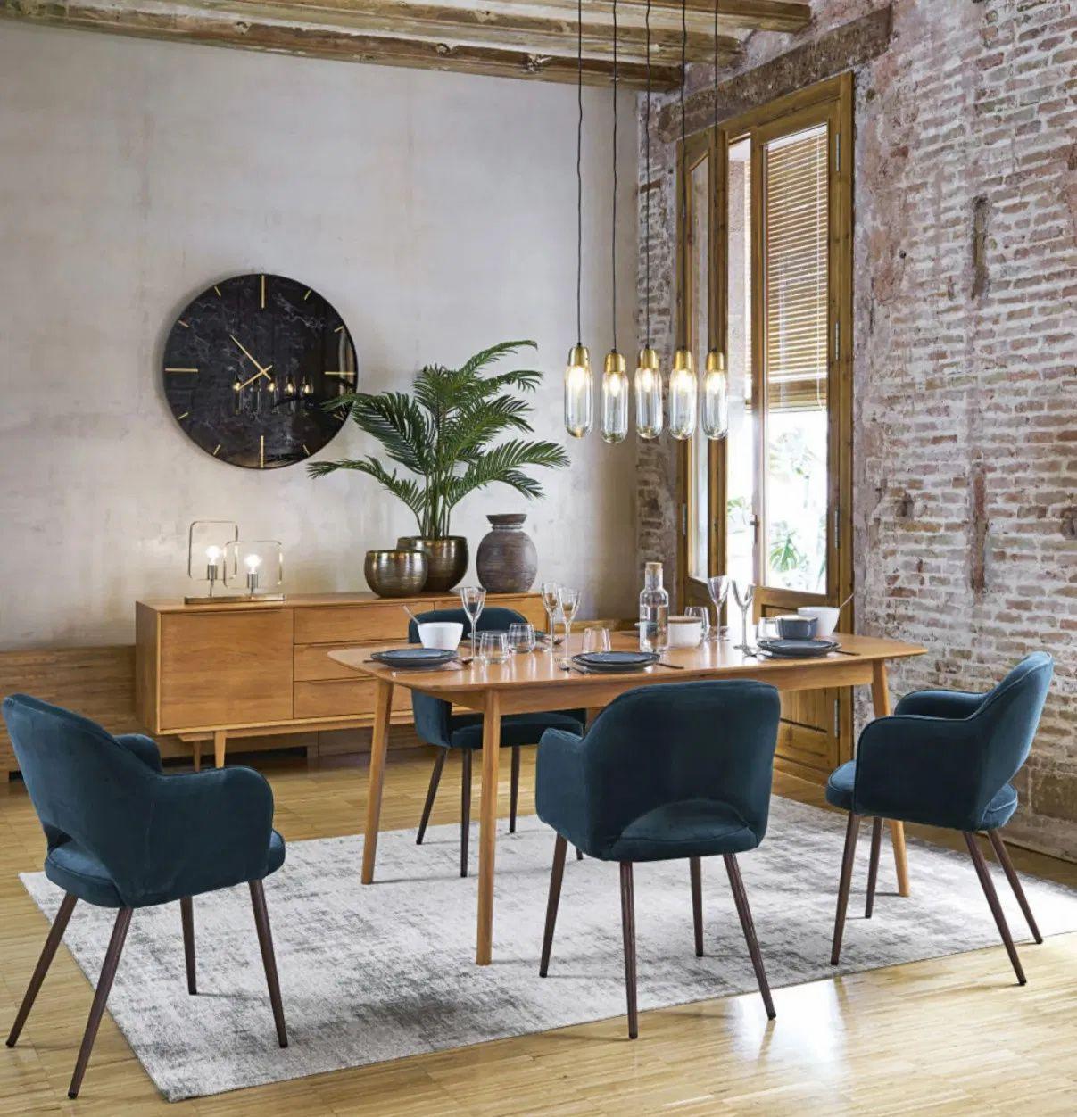les chaises en velours de chez maisons
