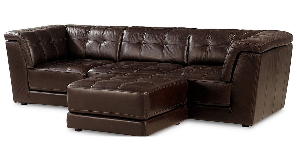 Stacey Leather 4 Piece Modular Sectional Sofa From Macy S