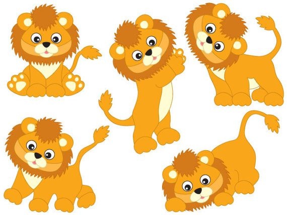 item lions clipart digital vector safari african animal rh pinterest ca lion clipart for kids lion clipart vector