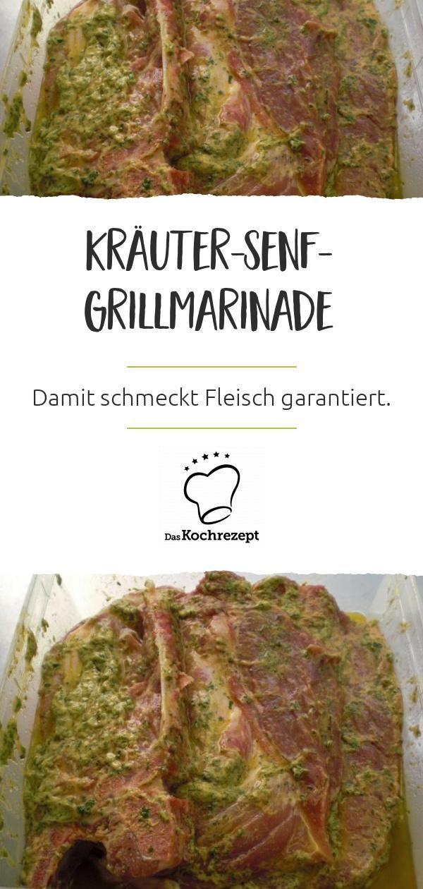 Kräuter-Senf-Grillmarinade