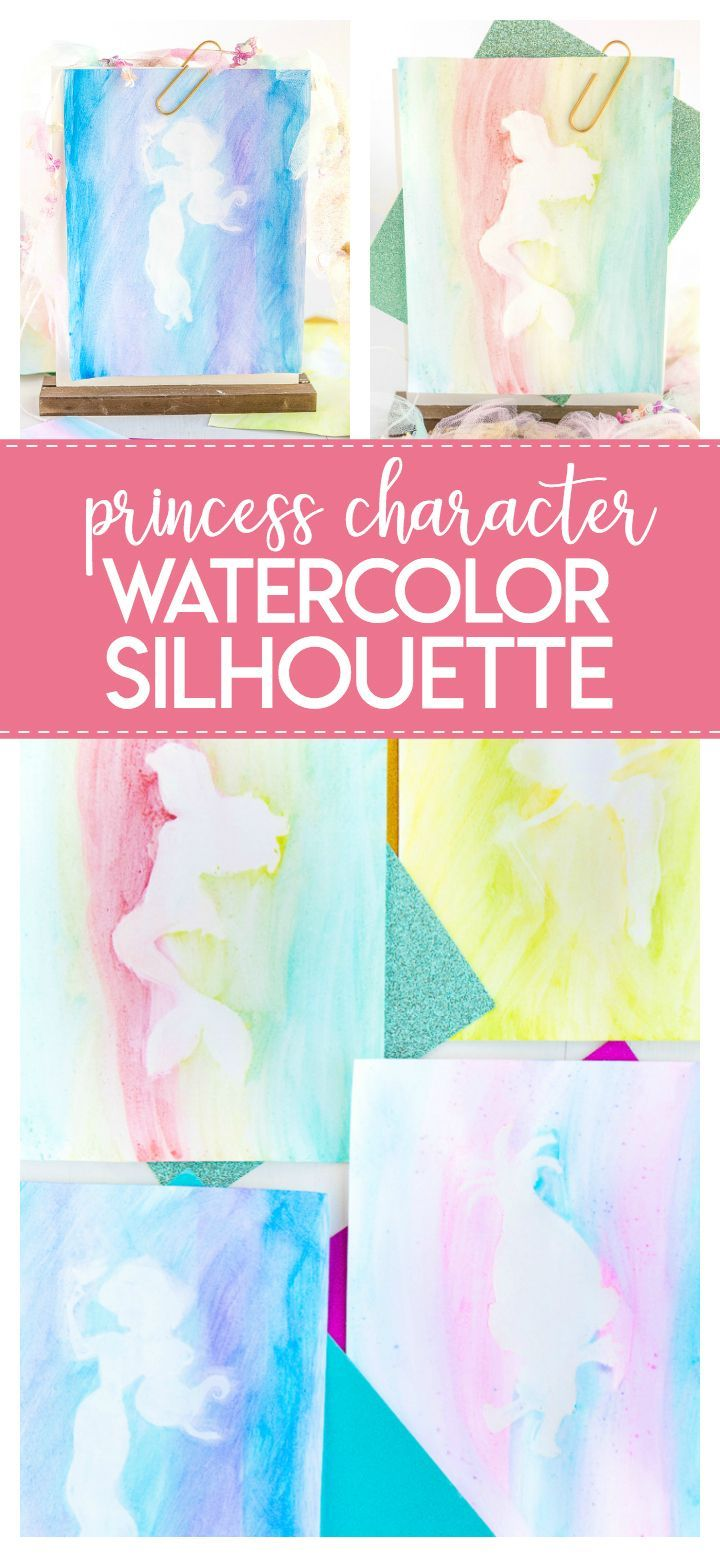 Princess Watercolor Silhouette