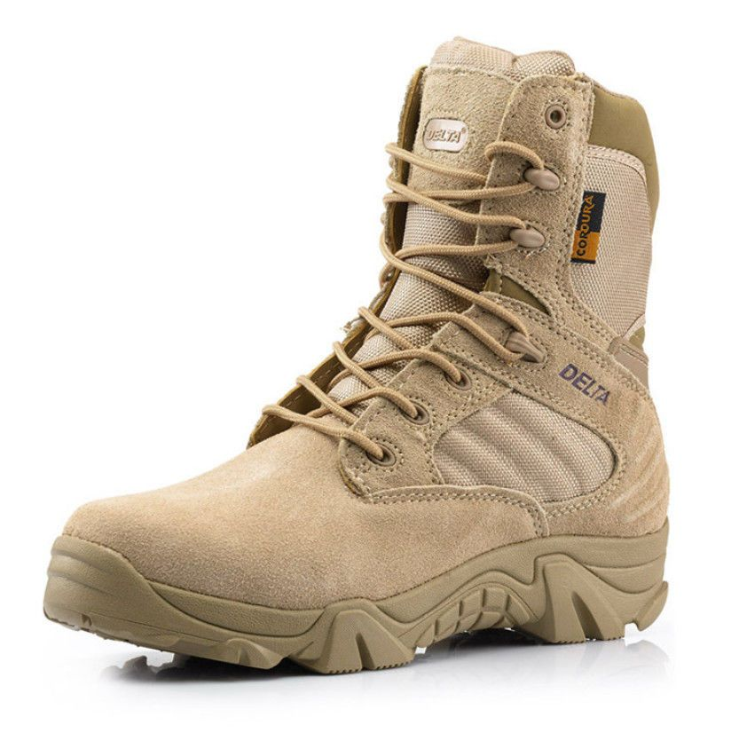 V.E.DELTA Military Tactical Ankle Boots Cordura Desert Combat Army Hiking  Shoes