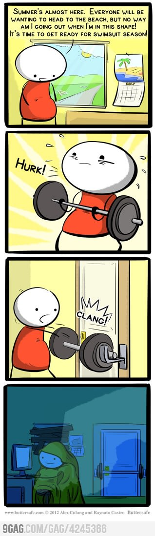 Lose all the weight