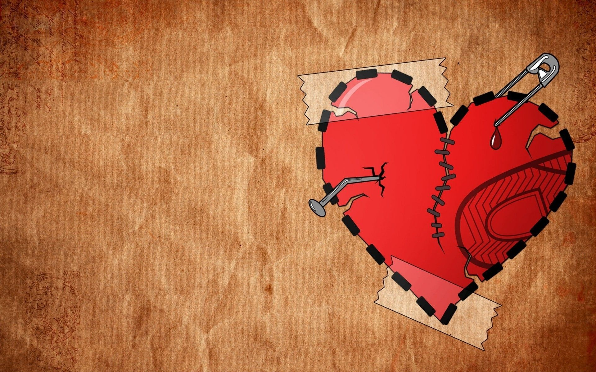 Broken heart sad quotes with pictures and wallpapers hd