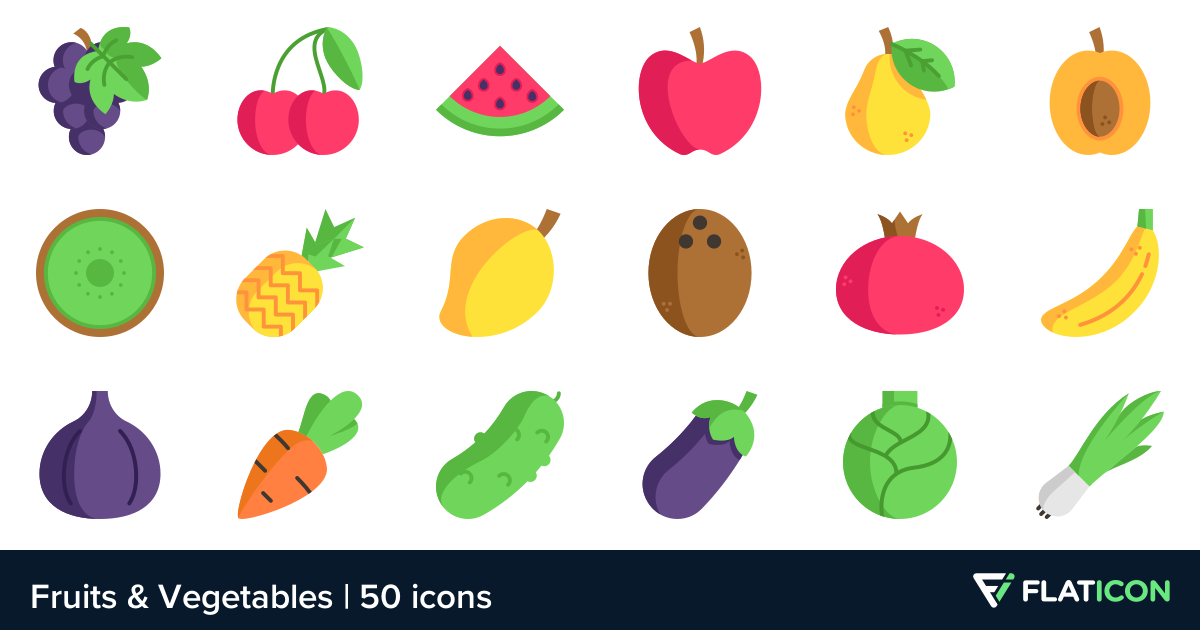 50 free vector icons of Fruits & Vegetables designed by